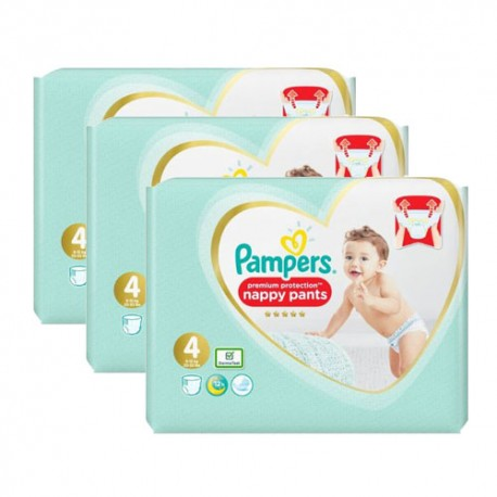 Maxi mega pack 423 Couches Pampers Premium Protection Pants taille 4 sur Couches Zone
