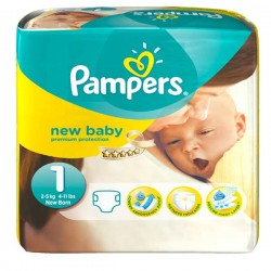 Pack 22 Couches Pampers Premium Protection taille 1