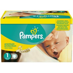 Pack 44 Couches Pampers Premium Protection taille 1