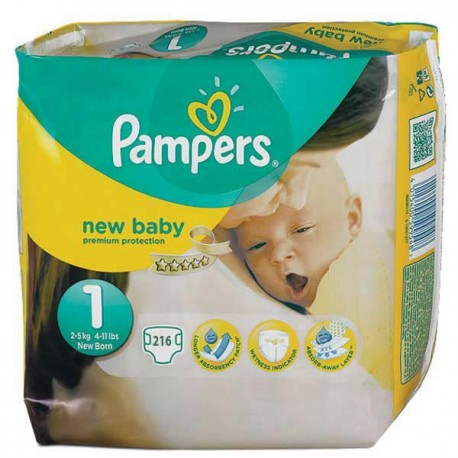 Giga pack 264 Couches Pampers Premium Protection taille 1 sur Couches Zone