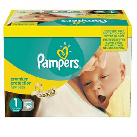 Maxi giga pack 352 Couches Pampers Premium Protection taille 1 sur Couches Zone