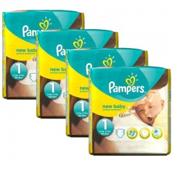 Maxi giga pack 374 Couches Pampers Premium Protection taille 1 sur Couches Zone