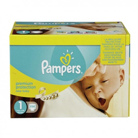 Maxi giga pack 396 Couches Pampers Premium Protection taille 1 sur Couches Zone