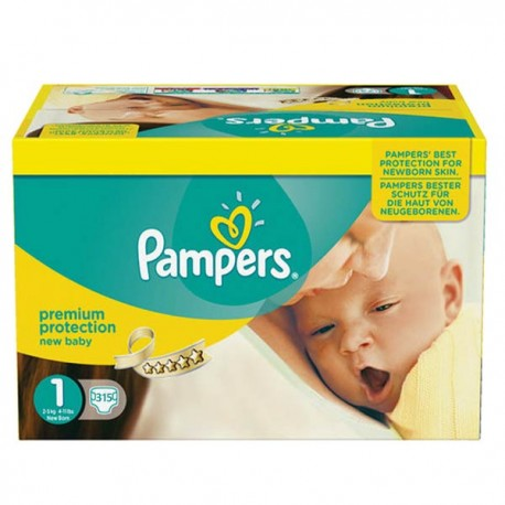 Maxi mega pack 440 Couches Pampers Premium Protection taille 1 sur Couches Zone