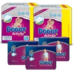 Mega pack 117 Couches Dodot Activity taille 6