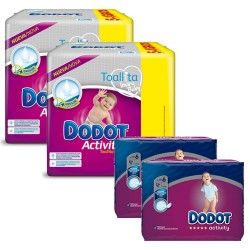 Mega pack 195 Couches Dodot Activity taille 6