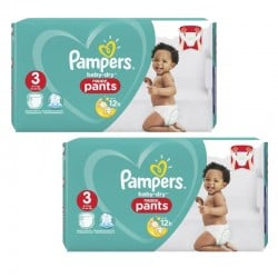 Mega pack 114 Couches Pampers Baby Dry Pants taille 3
