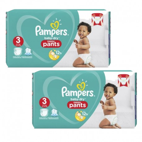 Mega pack 114 Couches Pampers Baby Dry Pants taille 3 sur Couches Zone