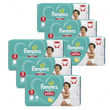 Mega pack 152 Couches Pampers Baby Dry Pants taille 3 sur Couches Zone