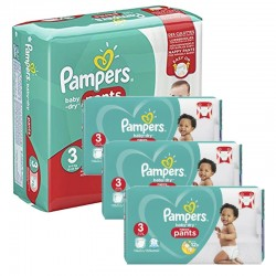 Giga pack 228 Couches Pampers Baby Dry Pants taille 3 sur Couches Zone