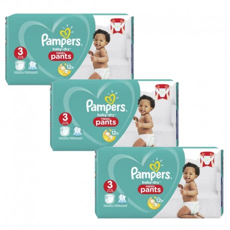 Giga pack 266 Couches Pampers Baby Dry Pants taille 3 sur Couches Zone