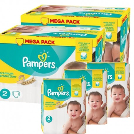 Maxi giga pack 364 Couches Pampers Premium Protection taille 2 sur Couches Zone