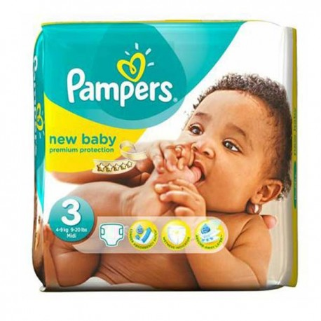 Pack 68 Couches Pampers New Baby Premium Protection taille 3 sur Couches Zone
