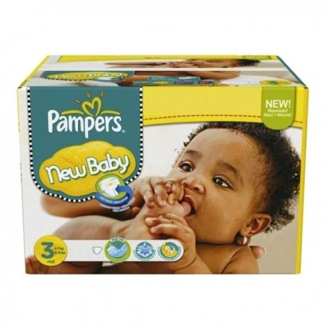 Giga pack 204 Couches Pampers New Baby Premium Protection taille 3 sur Couches Zone