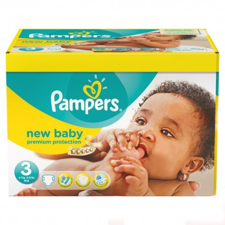 Maxi mega pack 476 Couches Pampers New Baby Premium Protection taille 3 sur Couches Zone