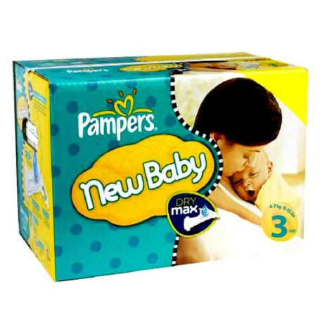 Pack jumeaux 544 Couches Pampers New Baby Premium Protection taille 3 sur Couches Zone