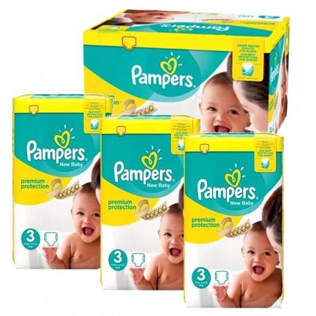 Pack 58 Couches Pampers Premium Protection taille 3 sur Couches Zone