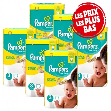 Pack 87 Couches Pampers Premium Protection taille 3 sur Couches Zone