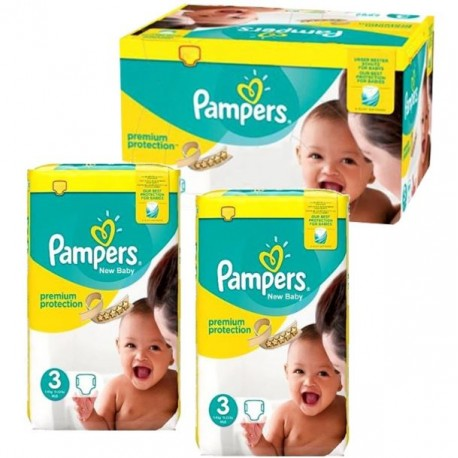 Mega pack 174 Couches Pampers Premium Protection taille 3 sur Couches Zone