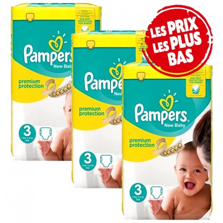 Giga pack 203 Couches Pampers Premium Protection taille 3 sur Couches Zone