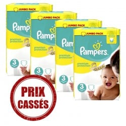 Maxi giga pack 377 Couches Pampers Premium Protection taille 3