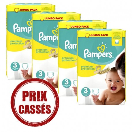 Maxi giga pack 377 Couches Pampers Premium Protection taille 3 sur Couches Zone