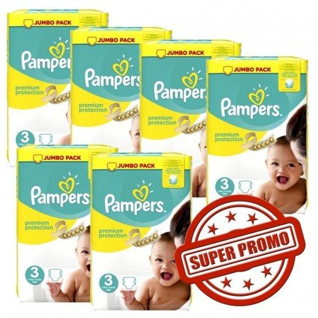 Maxi mega pack 493 Couches Pampers Premium Protection taille 3 sur Couches Zone