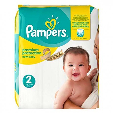 Pack 52 Couches Pampers Premium Protection taille 2 sur Couches Zone