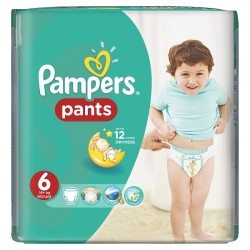 Pack 72 Couches Pampers Baby Dry Pants taille 6 sur Couches Zone