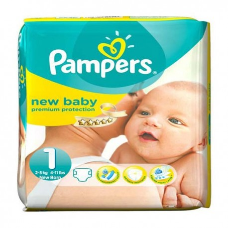 Pack 56 Couches Pampers Premium Protection taille 1 sur Couches Zone
