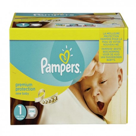 Mega pack 168 Couches Pampers Premium Protection taille 1 sur Couches Zone