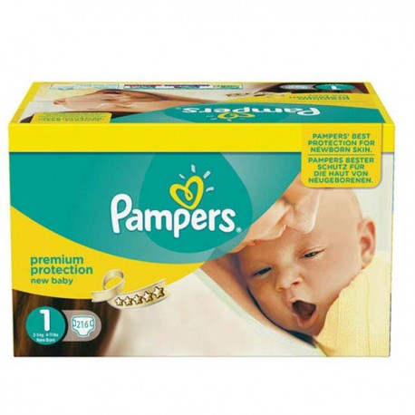 Pack jumeaux 672 Couches Pampers Premium Protection taille 1 sur Couches Zone