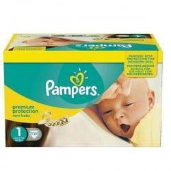 Pack jumeaux 728 Couches Pampers Premium Protection taille 1 sur Couches Zone