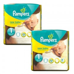 Pack jumeaux 784 Couches Pampers Premium Protection taille 1 sur Couches Zone