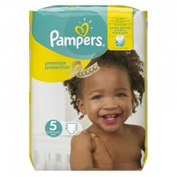 Pack 68 Couches Pampers Premium Protection taille 5 sur Couches Zone