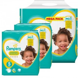 Maxi mega pack 408 Couches Pampers Premium Protection taille 5 sur Couches Zone