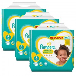 Pack jumeaux 544 Couches Pampers Premium Protection taille 5 sur Couches Zone