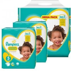 Pack jumeaux 748 Couches Pampers Premium Protection taille 5 sur Couches Zone