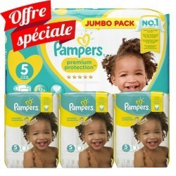Maxi giga pack 340 Couches Pampers Premium Protection taille 5 sur Couches Zone