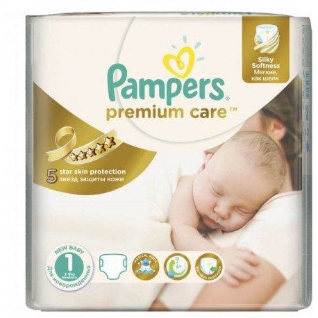 Pack 78 Couches Pampers Premium Care taille 1 sur Couches Zone