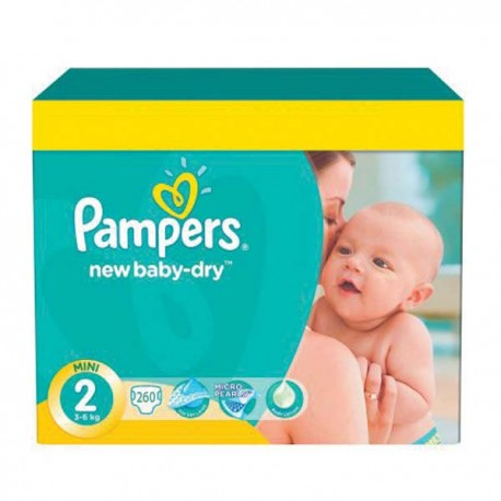 Pack jumeaux 680 Couches Pampers New Baby Dry taille 2 sur Couches Zone