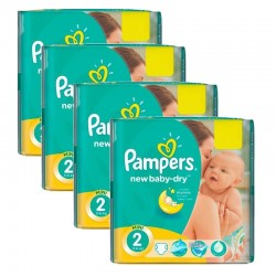 Pack jumeaux 748 Couches Pampers New Baby Dry taille 2 sur Couches Zone