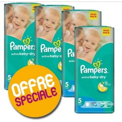 Maxi mega pack 462 Couches Pampers Active Baby Dry taille 5 sur Couches Zone