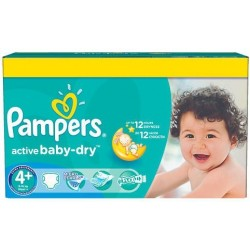 Giga pack 290 Couches Pampers Active Baby Dry taille 4+ sur Couches Zone