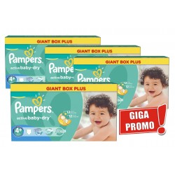 Maxi giga pack 348 Couches Pampers Active Baby Dry taille 4+ sur Couches Zone