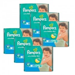Maxi mega pack 464 Couches Pampers Active Baby Dry taille 4+ sur Couches Zone