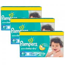 Pack jumeaux 522 Couches Pampers Active Baby Dry taille 4+ sur Couches Zone