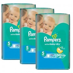 Giga pack 270 Couches Pampers Active Baby Dry taille 5 sur Couches Zone