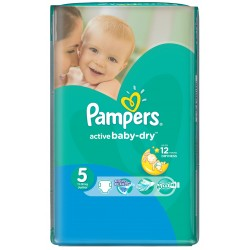 Pack 64 Couches Pampers Active Baby Dry taille 5 sur Couches Zone