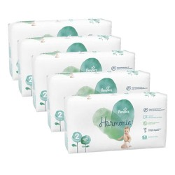 Pack jumeaux 546 Couches Pampers Harmonie taille 2 sur Couches Zone
